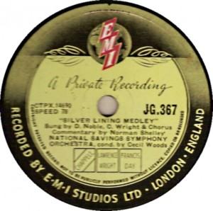 Record label for Dennis Noble's National Savings record